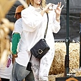 Jessica Alba captured adorable moments with her girls on her iPhone at the pumpkin patch.