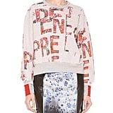 Preen by Thornton Bregazzi Slogan Print Sweatshirt ($520)