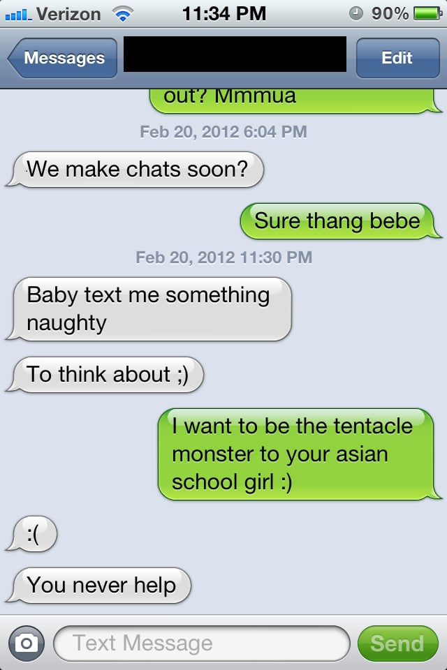 Exaggerate. Funny adult text messages are absolutely
