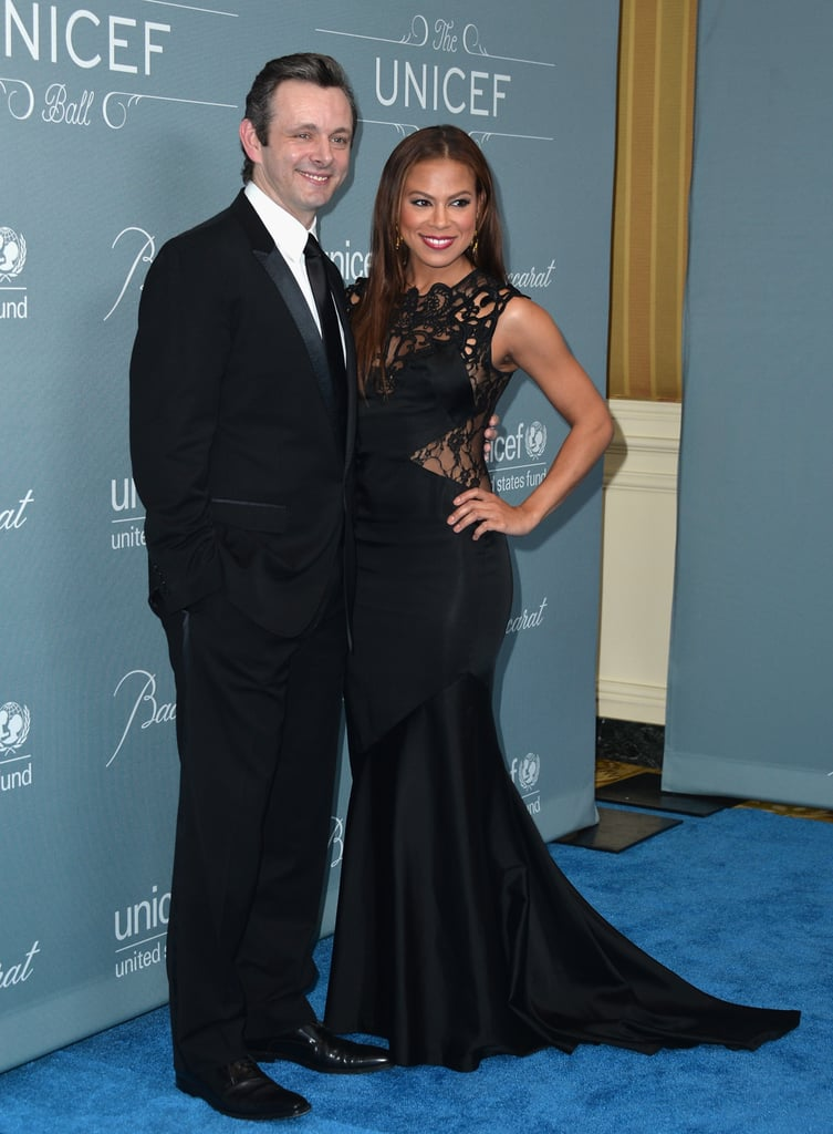 Michael Sheen and Toni Trucks posed together.
