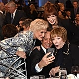 When He Took a Selfie With Glenn Close, Frances Fisher, and Shirley MacLaine