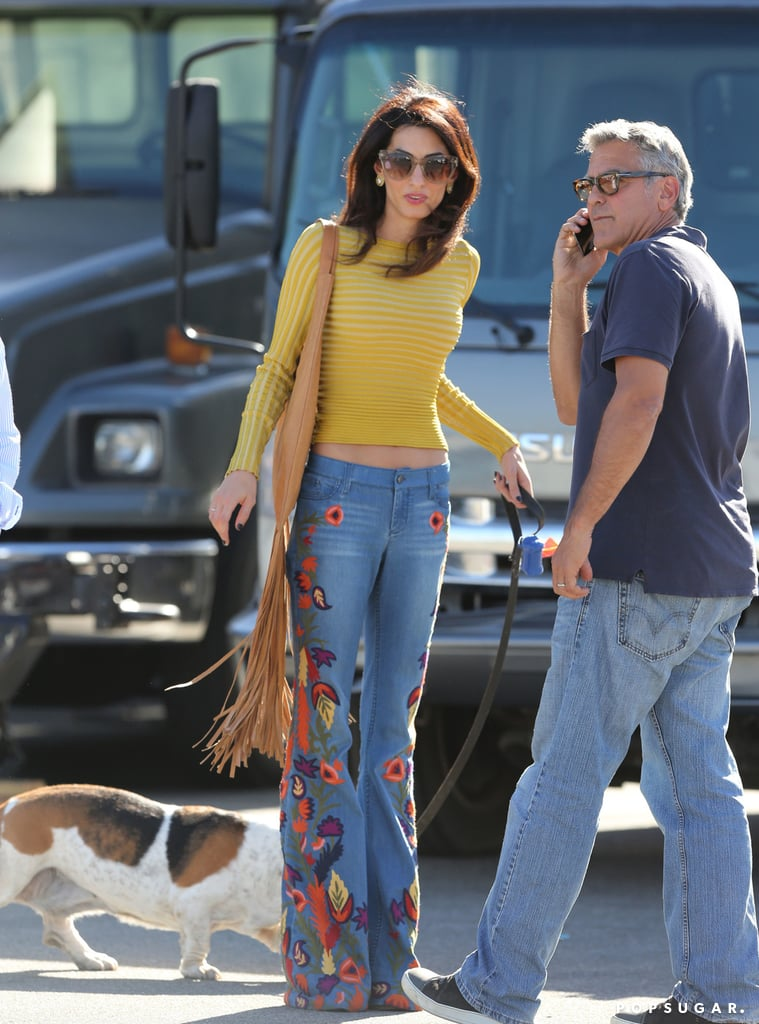 Amal Clooney's Flares Are the Type Girls Go Thrifting For