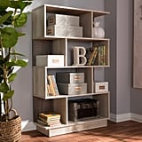 Teagan Modern and Contemporary Oak Finished Display Bookcase