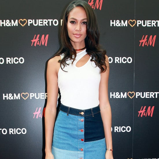 Joan Smalls Wearing H&M at the Store Opening in Puerto Rico