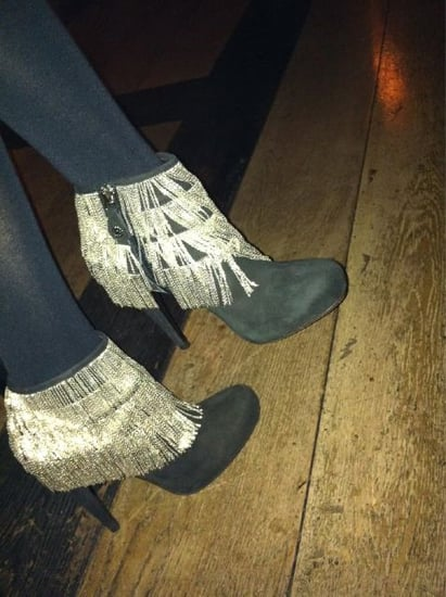 Guess Which Dancing Diva These Silver Fringed Roberto Cavalli Ankle Boots Belong To?