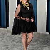 Martha Stewart Black Dress Vanity Fair Oscars Party 2020