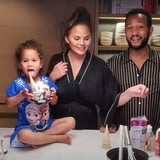 See Chrissy Teigen and Luna Make Hot Fudge Together | Video