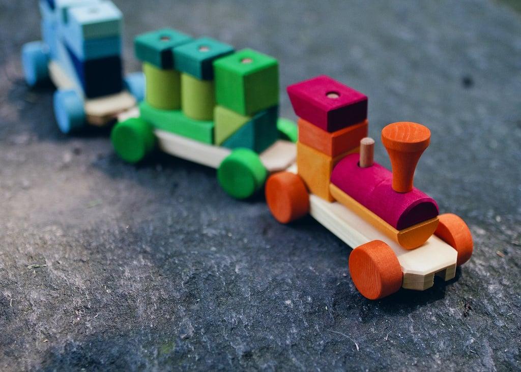 Rainbow Wooden Train