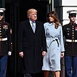 Melania Trump Max Mara Blue Coat