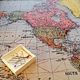 Pin places you've traveled on a world map