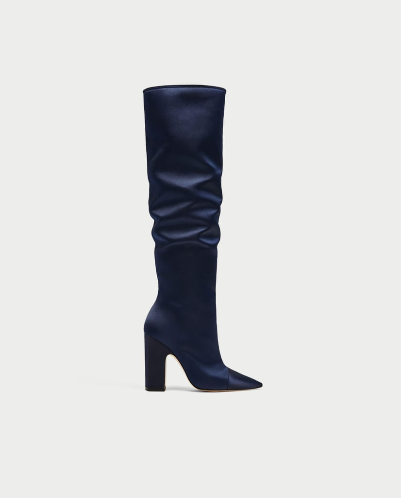 Zara Sateen High-Heel Boots