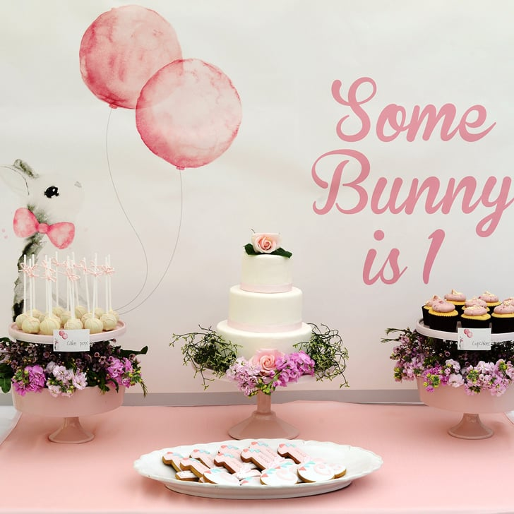 bunny first birthday party ideas popsugar moms