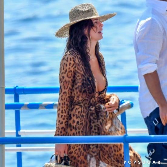 Camila Morrone Leopard Bikini With Leonardo DiCaprio Italy