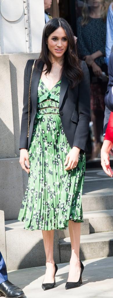 Meghan Markle Green Self Portrait Dress