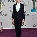Kirsten rocked the menswear trend in a Patrick Ervell suit at the 2011 CFDA Fashion Awards.