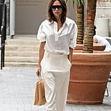 Look sexy with a white on white combo.
