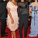 Rachel Roy with Liya Kebede in her design