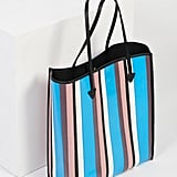 Free People Striped Vegan Tote