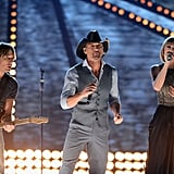 Taylor Swift performed with Tim McGraw and Keith Urban.