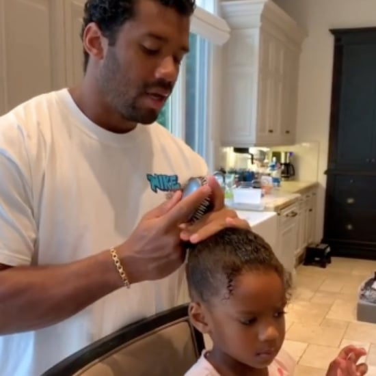 Video of Russell Wilson Doing Sienna's Hair