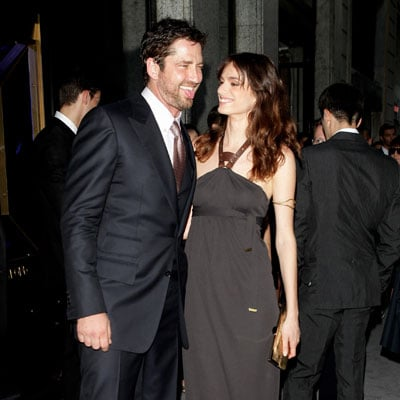 Gerard Butler and Gaia Bermani Amaral at the Tom Ford Opening Party in Milan