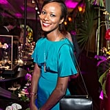 For the launch of Eugenie Niarchos's first jewelry collection, Shala Monroque donned an ombre design.
