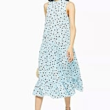 Topshop Blue Floral Sleeveless Dress