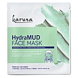 KARUNA HydraMUD Face Mask ($12) This Korean face mask is the ultimate hydrating and calming combo! It contains active ingredients like aloe vera and hyaluronic acid that not only sooth dull, dry and irritated skin but work hard to bring back that much needed moisture.