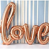 Foil Love Balloons