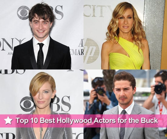 Forbes names the Top 10 Hollywood actors who give the most bang for the buck