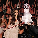 Kim Kardashian partied at Tao in Las Vegas.