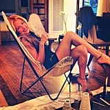 Cat Deeley relaxed before mingling with shoppers during FNO.  Source: Instagram user catdeeley