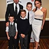 David and Victoria Beckham posed with their boys at the annual Sports Spectacular benefit in LA in May.
