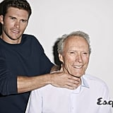 """Scott on growing up with his famous dad: """"My father's definitely old-school. And he raised me with integrity — to be places on time, show up, and work hard.""""  Scott on how he hopes to follow in Clint's career footsteps: """". . . Like he says, it's feast or famine for an actor. If you're not creating your own material, then you're just fighting for whatever's out there. I definitely have the desire to go to the other side."""""""