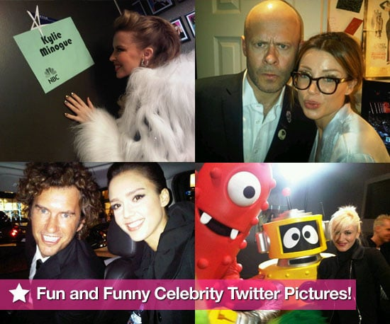 See Funny Celebrity Twitter Pictures Including Kylie Minogue's Tree Lighting, Dannii Minogue at X Factor