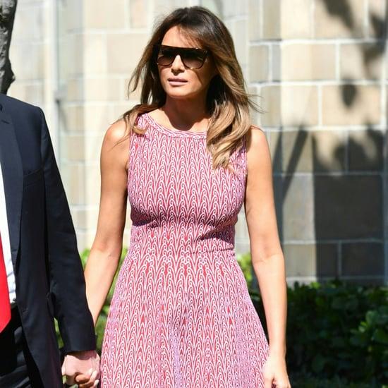 Melania Trump Pink Dress on Easter 2018