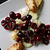 Vegetarian Appetizers: Grilled Brie with Cherry-Thyme Relish