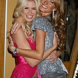 Former Victoria's Secret Angels Heidi Klum and Gisele Bündchen hugged it out in November 2004.