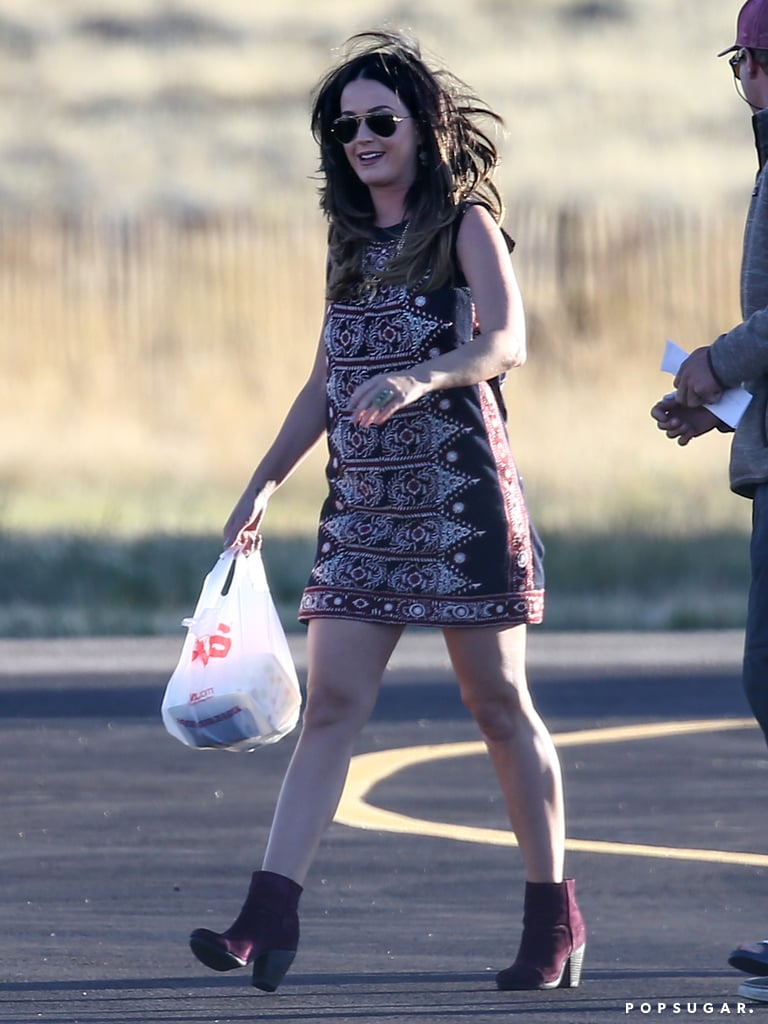 Katy Perry was all smiles when she arrived.