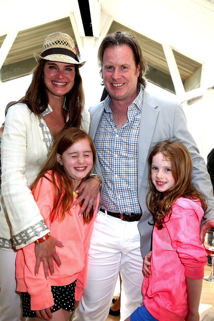 Brooke Shields, her husband, Chris Henchy, and their daughters, Rowan and Grier, got dressed up for the DuJour Summer kickoff party in Bridgehampton in May.