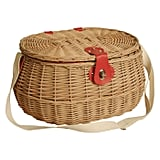 Wald Import Willow Picnic Basket With Red Lining
