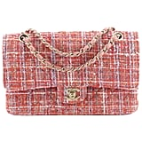 Chanel Vintage Classic Quilted Tweed Double Flap Bag