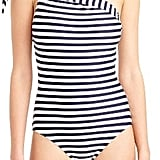 J.Crew Women's One-Shoulder Stripe One-Piece Swimsuit