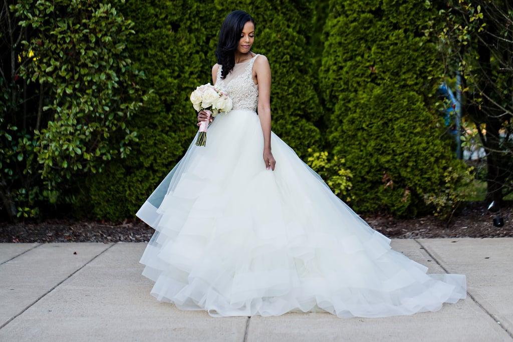 She Wore A Beautiful Tulle Lazaro Wedding Dress