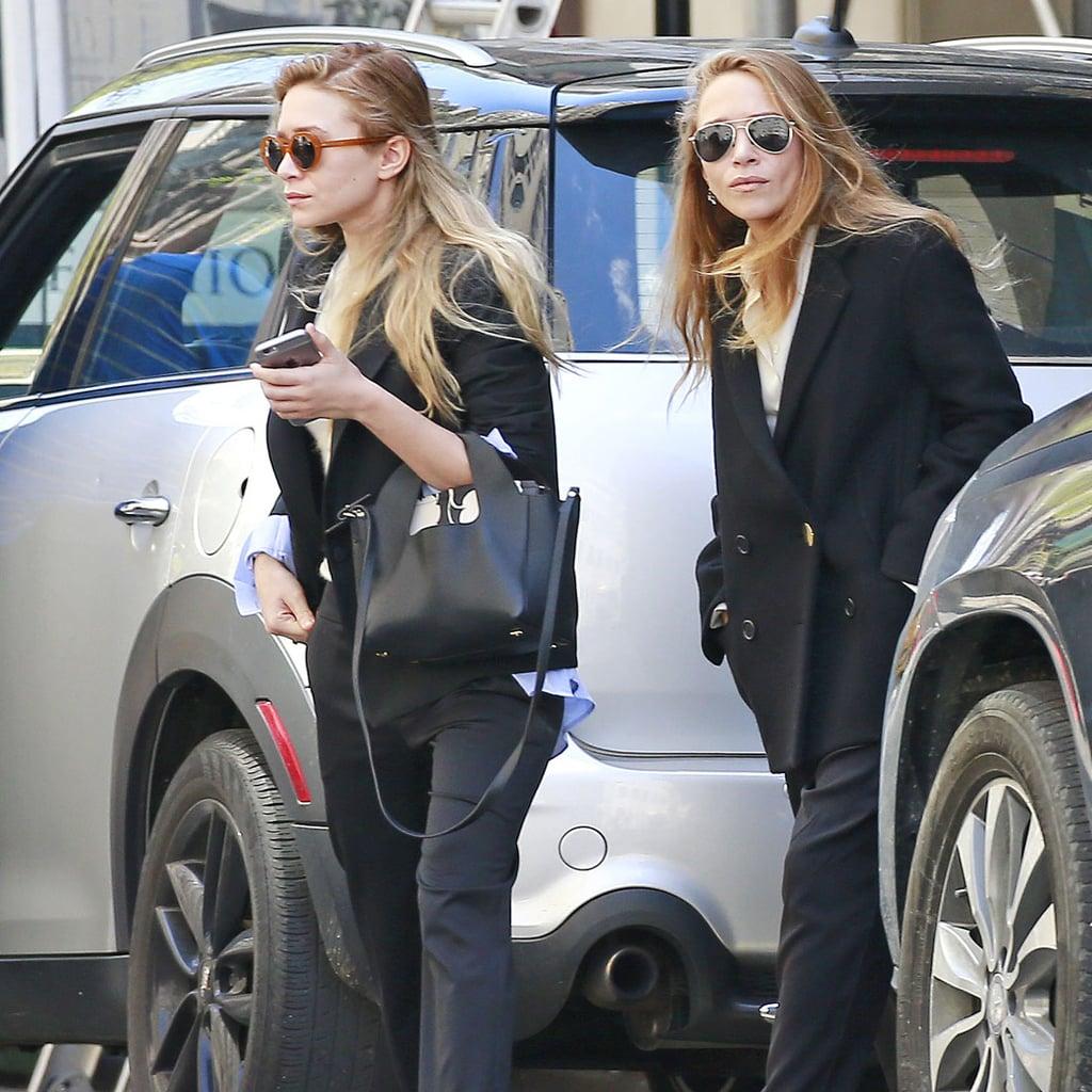 Mary-Kate and Ashley Olsen Matching Street Style