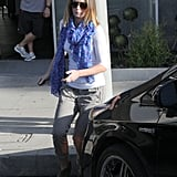 Emily Blunt headed to her car after a hair appointment in West Hollywood.