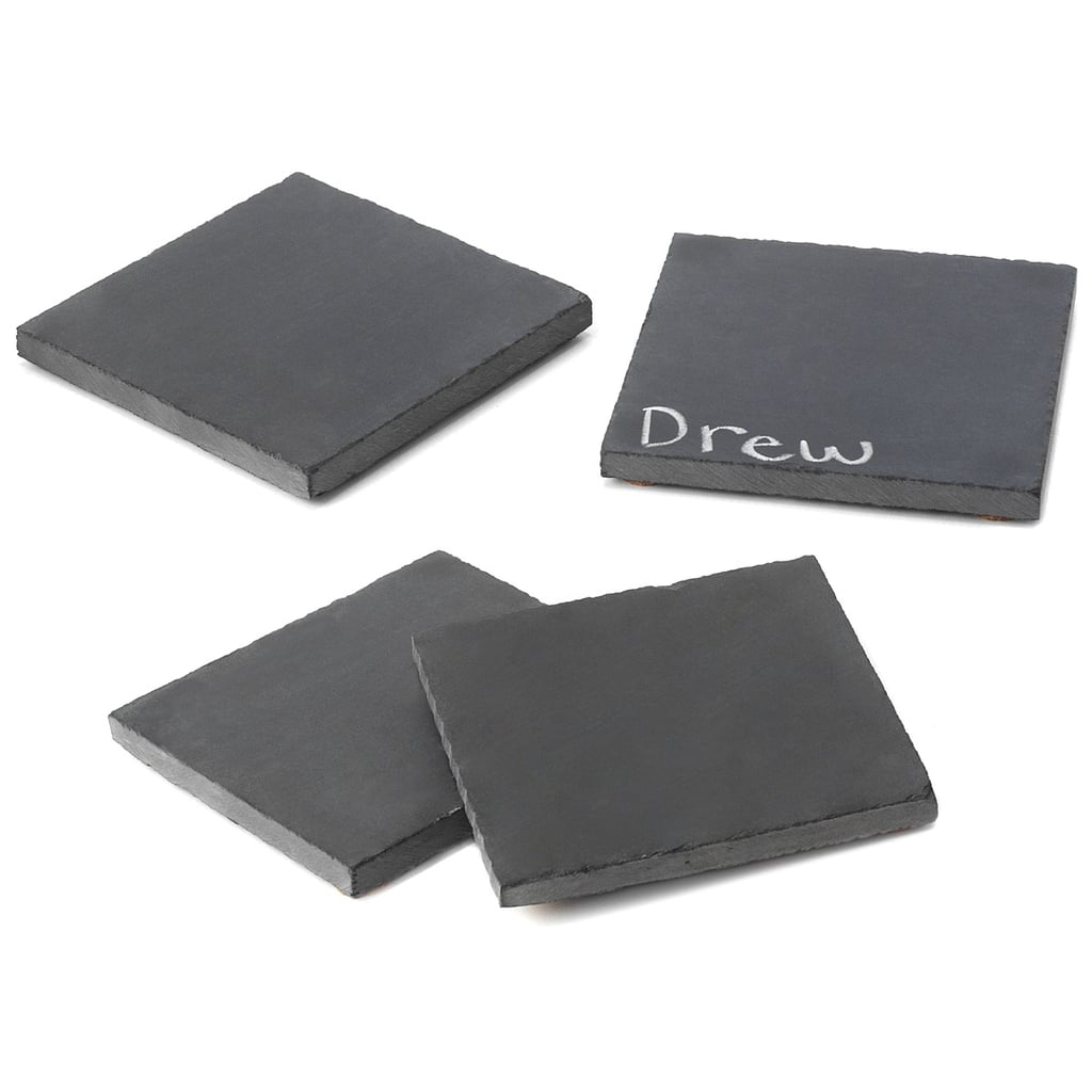 This set of four customizable coasters ($28) is made with reclaimed chalkboards from an Illinois elementary school, so not only are the table-savers perfect for tracking glasses, but they're also eco-friendly. Save your hostess a trip by pairing the coaster set with a pack of white or colored chalk.