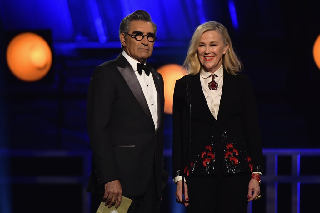 Eugene Levy and Catherine O'Hara at the 2019 Critics' Choice