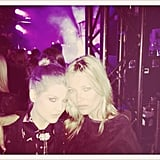 Kelly Osbourne snapped a photo with Kate Moss.  Twitter user: MissKellyO