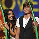 Vanessa Hudgens and Zac Efron accepted their awards together in 2007.